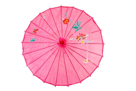 Pink asian umbrella