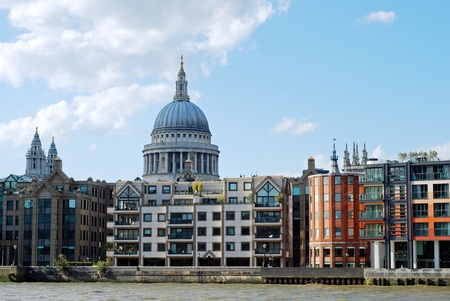 st pauls: London skyline with st pauls cathedral