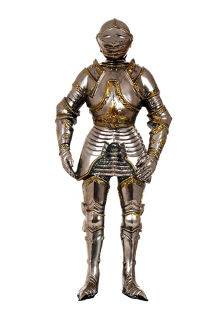 shiny suit: full suit of armour Stock Photo