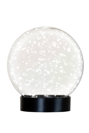 Isolated snow globe Stock Photo - 10616444