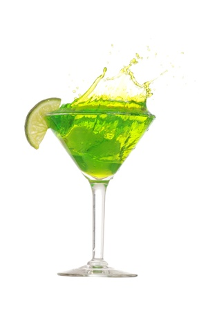 martini splash: Lime martini splash