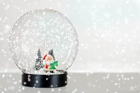 Santa snow globe photo