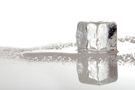 melting ice cube photo