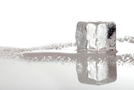 melting ice: melting ice cube