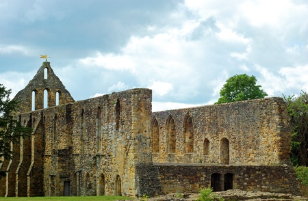norman castle: Ruin church at Battle Abbey Battle England