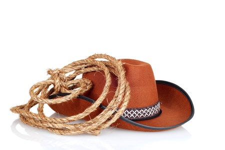 cowboy hat with a lasso