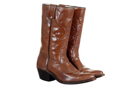 isolated cowboy boots photo