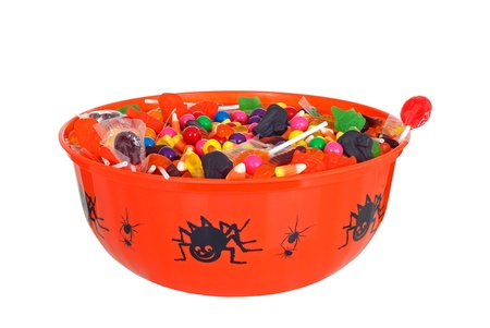 isolated bowl halloween candy Stock Photo