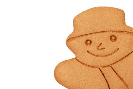 gingerbread: closeup Gingerbread snowman Stock Photo