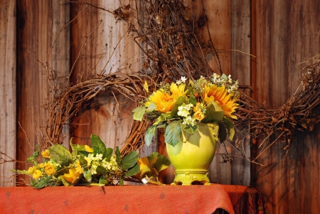 fall flowers still life photo