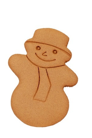 gingerbread: isolated gingerbread snowman