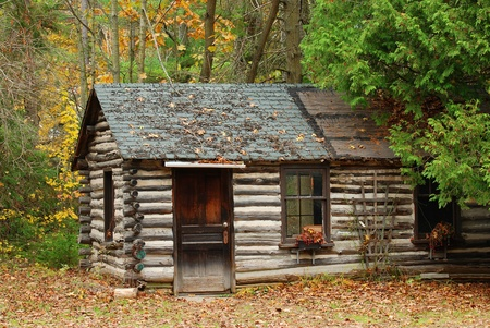 log cabin: old cabin