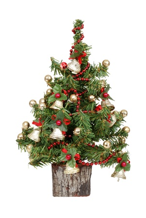 decorated mini christmas tree photo
