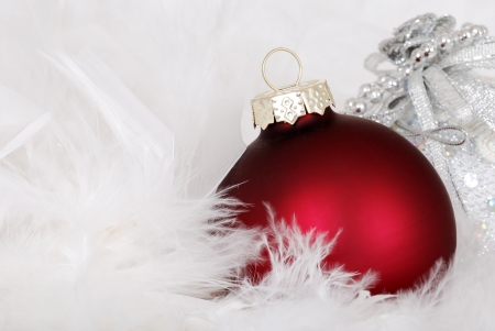 decoration: Red christmas ornament