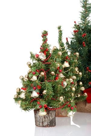 Row of christmas trees Banco de Imagens