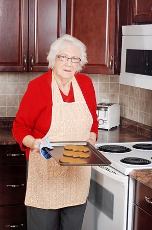 senior woman christmas baking photo