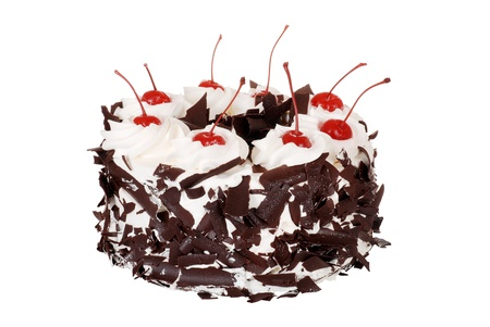 cake with icing: Isolated black forest cake
