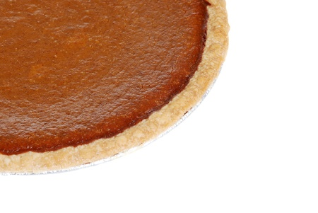 Macro pumpkin pie photo