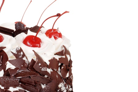 Macro black forest cake photo