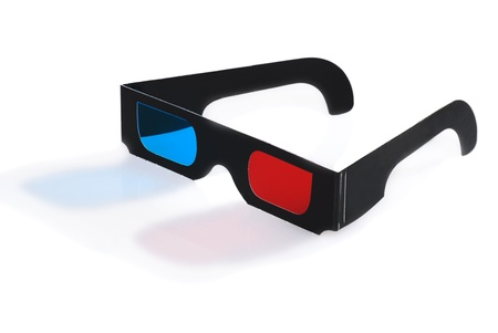 3D glasses with reflection