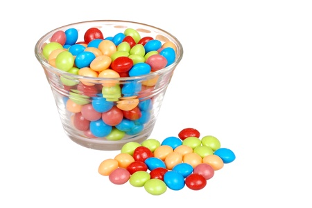 fruit candy: bowl of colorful fruit candy Stock Photo