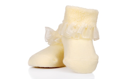 Infant Yellow Baby shoes photo