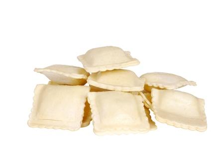 Isolated uncooked ravioli 版權商用圖片