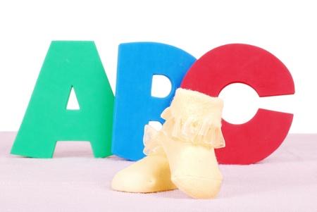 bottes pour bébés avec des lettres ABC