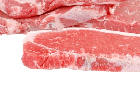 Raw strip loin steaks Stock Photo