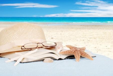 Stilleven strand concept van Stockfoto