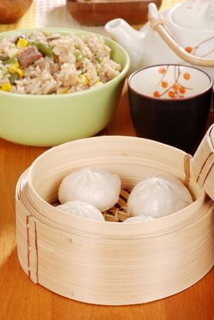 Pork dumplings Shallow DOF photo