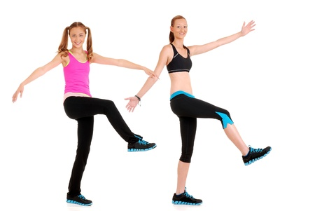 Zumba fitness dance move photo