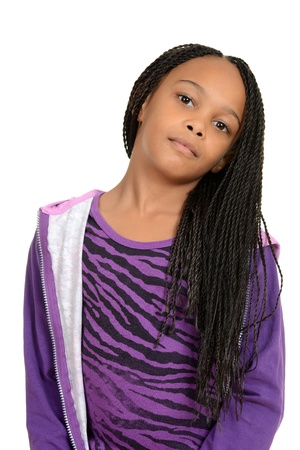 cornrows: Portrait cute south african child Stock Photo