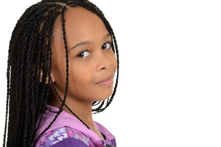cornrows: Portrait black female child