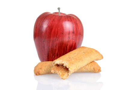 apple cinnamon: mela cannella bar per la colazione con frutta fresca Archivio Fotografico
