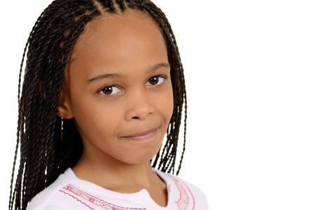 cornrows: chica joven sudafricano Foto de archivo