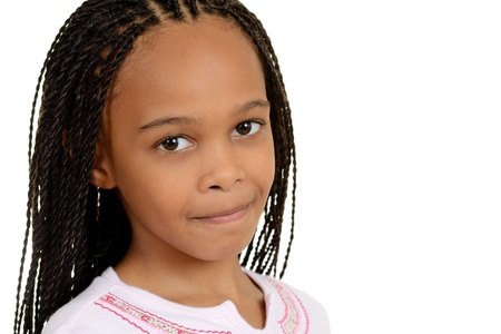 cornrows: young south african girl