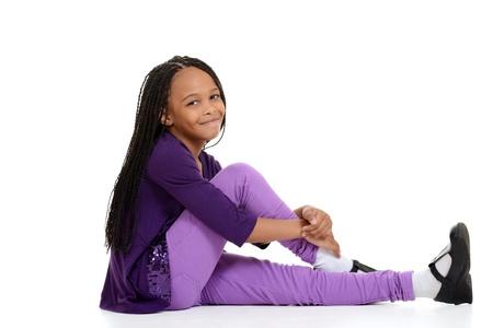 cornrows: happy african child sitting