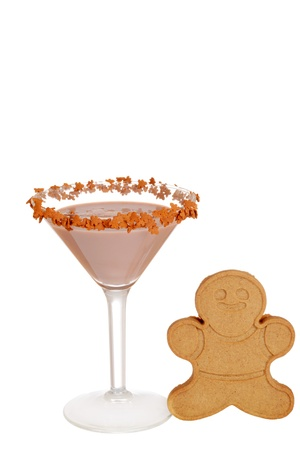 gingerbread cookie: Gingerbread martini with cookie