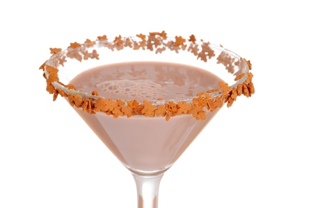 gingerbread: Macro gingerbread martini Stock Photo