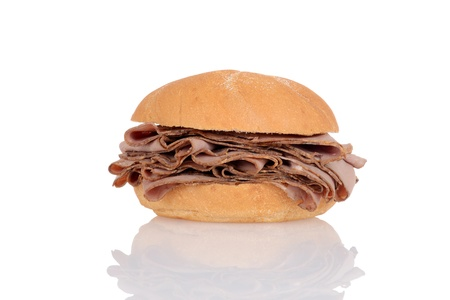 Roast beef on a bun photo