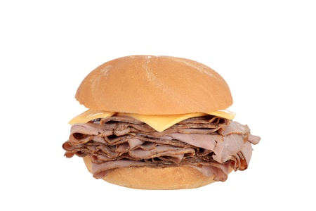 Roast beef sandwich with cheese Stock Photo