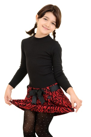 bowing: Little girl being cute Stock Photo