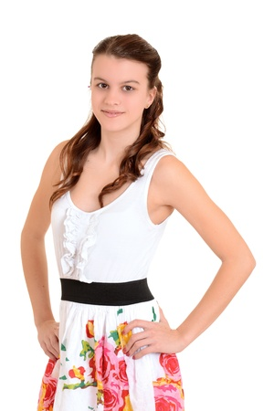 hands on hips: Teen girl with hands on hips