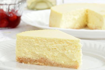 trozo de pastel: Tarta de queso Macro Foto de archivo