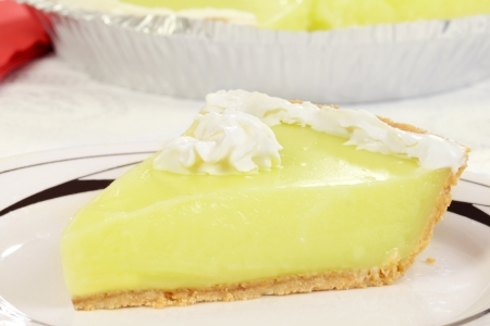 lime slice: macro key lime pie