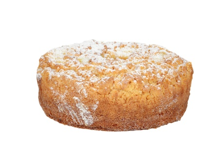 cafe y pastel: lim�n aislado pastel de caf� Foto de archivo