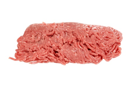 minced beef: isolated raw ground beef Stock Photo