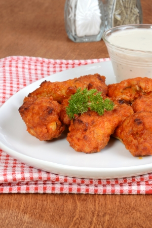 chicken wings with parsely photo