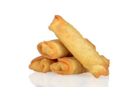 Pile of spring rolls Stock Photo